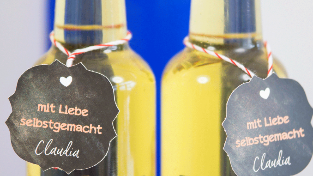 <b>Essig und Öl Etiketten</b> aus Papier oder Folie