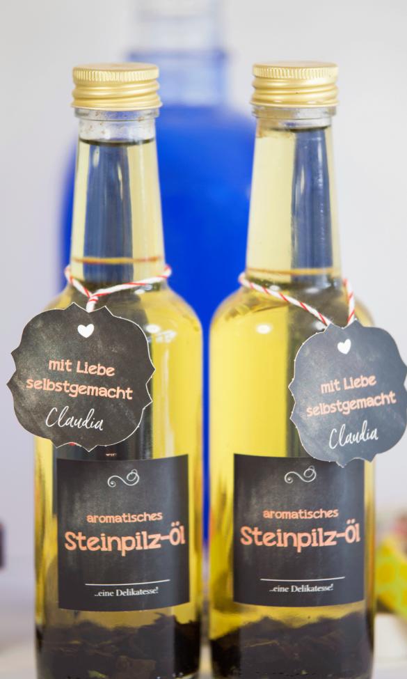Essig und Öl Etiketten-selbst-gestalten