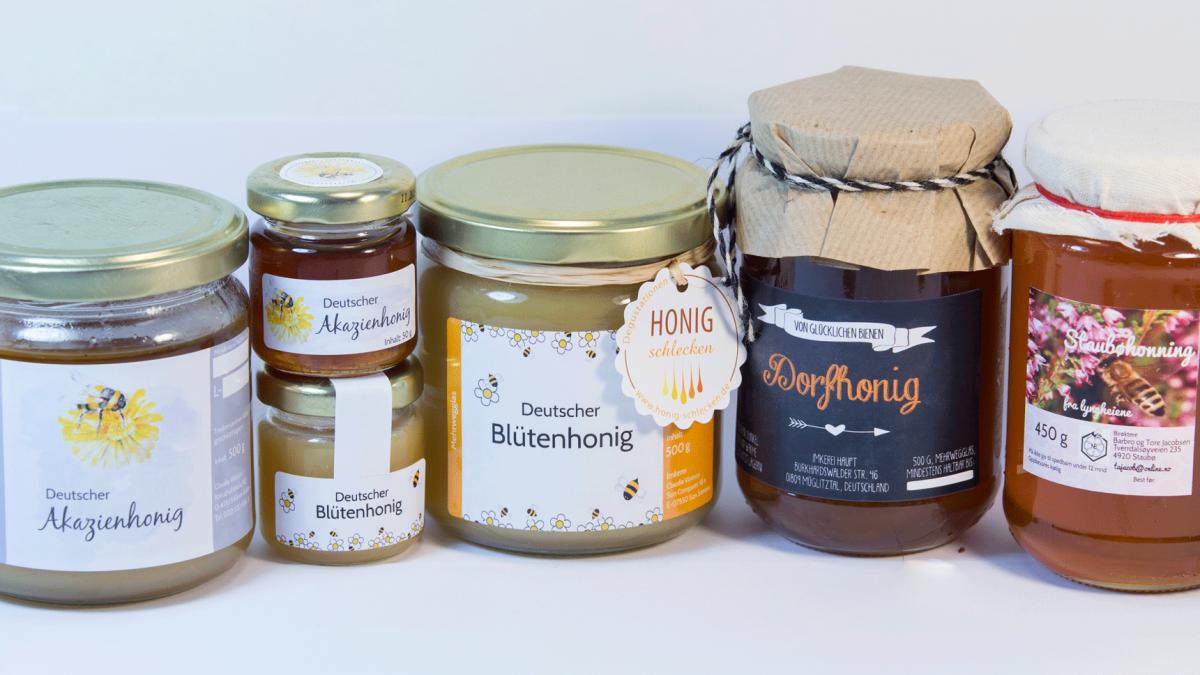 <b>persönliche Honig Etiketten</b> – individuelle Etiketten für Honig Gläser