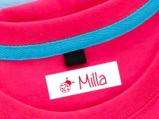 Bügeletiketten für Kleidung – tausendfach bewährt