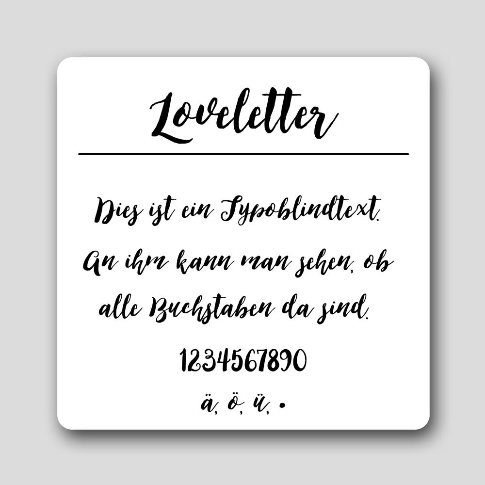 Loveletter Font im watsonlabel Etiketten Designer