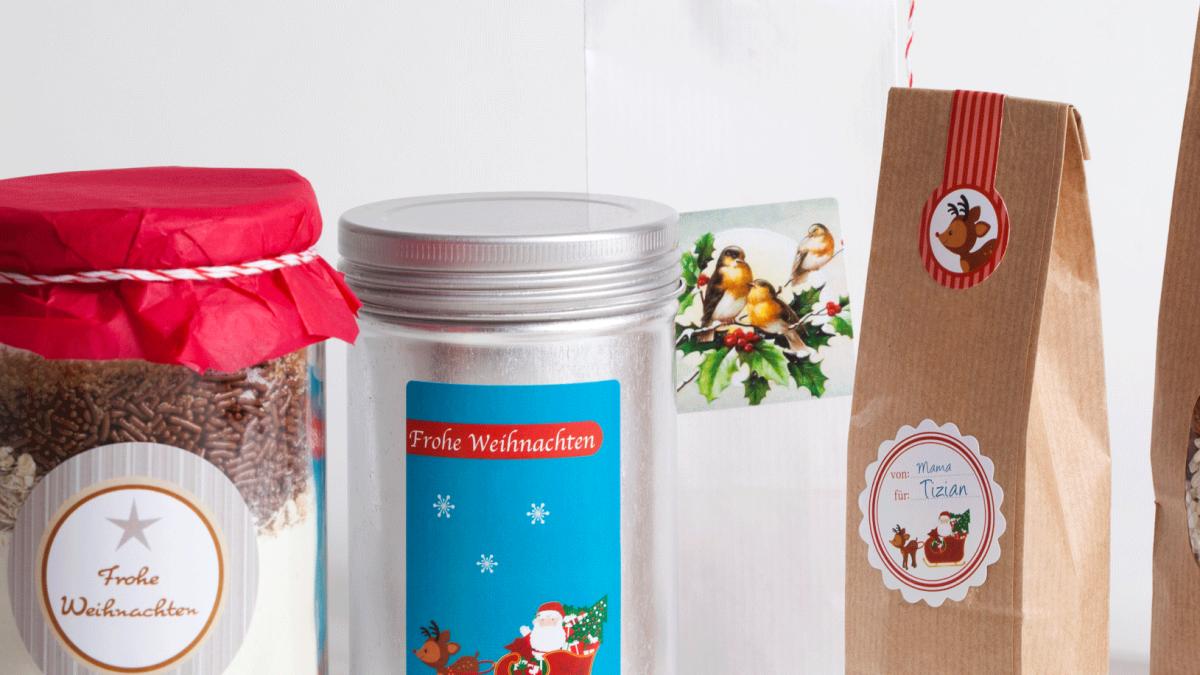 Zeit für personalisierte Weihnachtsetiketten