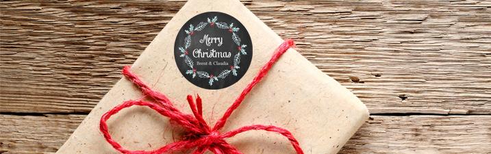 Chalkboard Etiketten für Weihnachten im Schreibtafel Design online gestalten bei watsonlabel