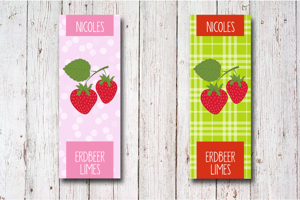 Erdbeer-Flaschen-Etiketten-30-x-80-mm-rosa-selbst-gestalten-bei-watsonlabel