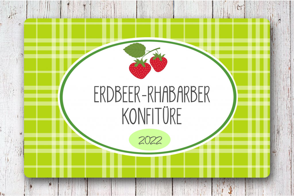 Erdbeerkonfituere--Etiketten-85-x-55-mm-online-gestalten-fuer-Konfituere-Glaeser-bei-watsonlabel