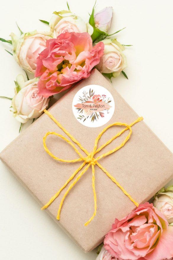 Hochzeitsetiketten-Living-Coral-online-gestalten-bei-watsonlabel