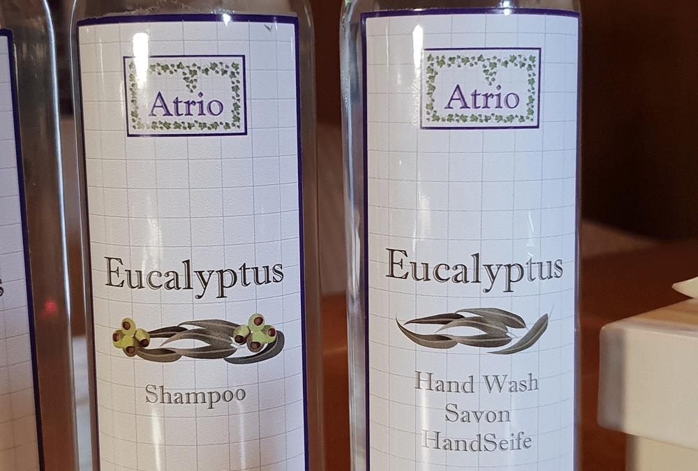 spülmaschinenfeste Flaschenetiketten für Shampoo