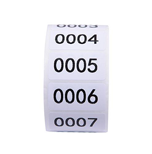 spülmaschinenfeste Etiketten mit Nummern
