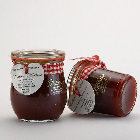 Anhaenge-Etiketten für Weck Tulpenglas 220 ml